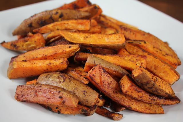Baked, Spiced Sweet Potato Fries | April McKinney