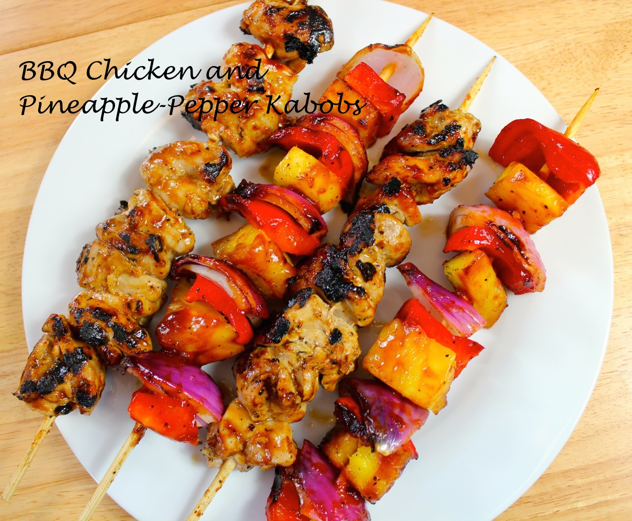 BBQ Chicken and Pineapple-Pepper Skewers | April McKinney